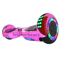 6.5'' Hoverboard Bluetooth Speaker LED STAR FLASHING WHEELS Scooter UL Listed Chrome Pink