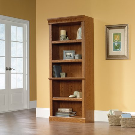 Sauder Orchard Hills Library Bookcase, Carolina Oak - Maple Library Wall Bookcase