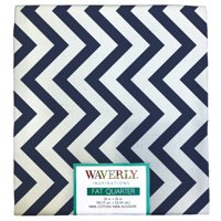 "Waverly Inspiration Fat Quarter 100% Cotton, Zigzag Print Fabric, Quilting Fabric, Craft fabric, 18"" by 21"", 140 GSM"