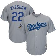 5836c063d50 Clayton Kershaw Los Angeles Dodgers Majestic 2018 World Series Cool Base  Player Jersey - Gray