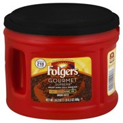 Folgers Gourmet Supreme Dark Ground Coffee, 24.2 oz