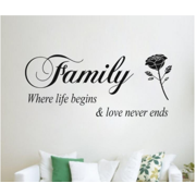 Wall Stickers,Justdolife Removable Family Rose Pattern Home Decors Decal Stickers Home Decoration for Living
