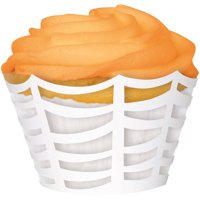 Die Cut White Spider Web Halloween Cupcake Wrappers 12-Count