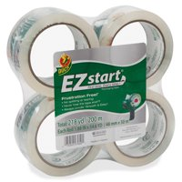 Duck EZ Start Packaging Tape 1.88 in. x 54.6 yd., Clear, 4-Count