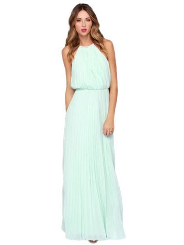 Women Formal Long Chiffon Prom Evening Party Bridesmaid Wedding Maxi Dress Sleeveless