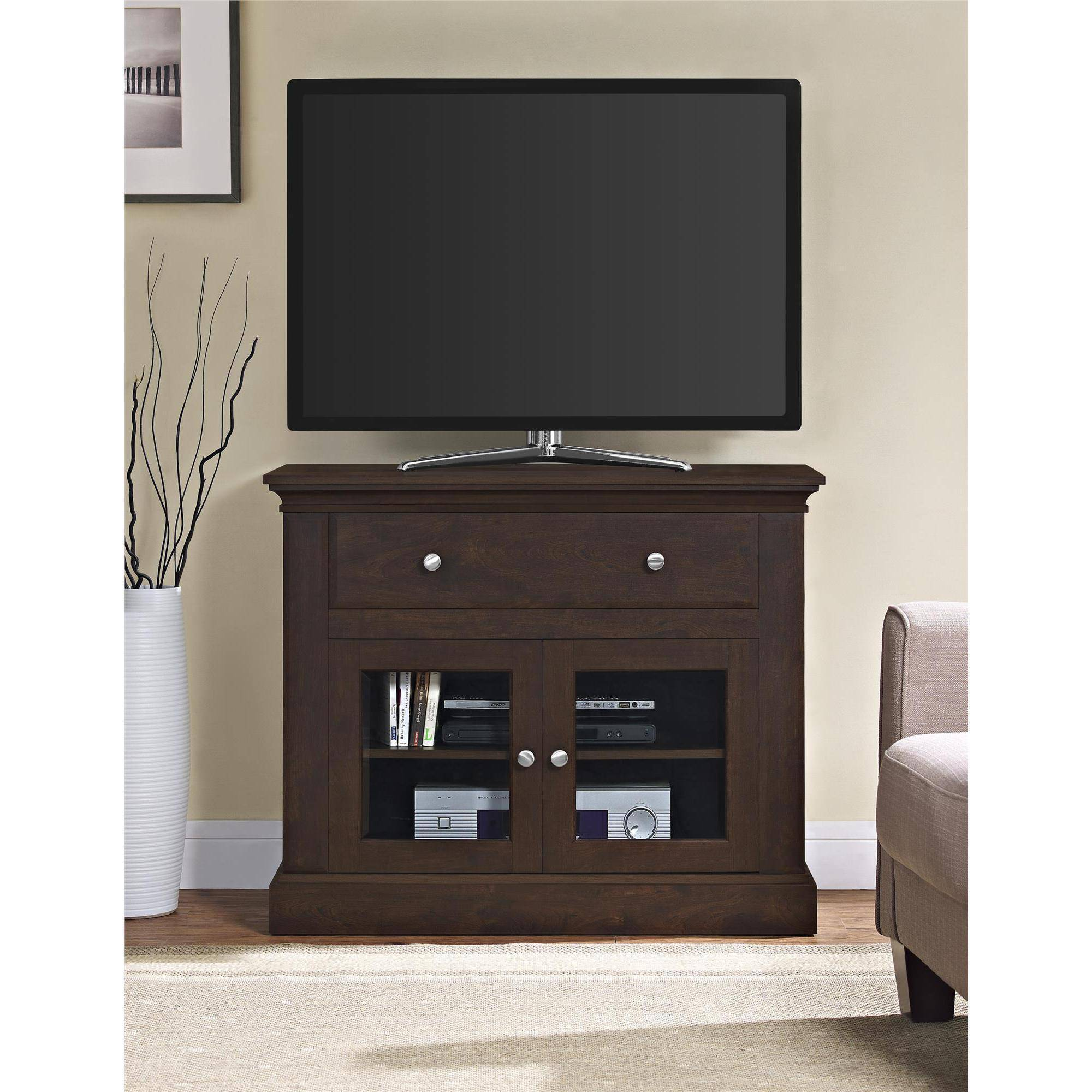 Sarah Tv Stands Altra Furniture Brandywine Antique Cherry Tv Stand For Tvs Up To 42