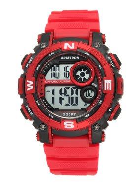 Men's Round Sport Watch, Red