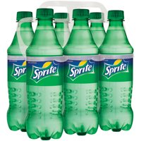 (4 Pack) Sprite Caffeine-Free Soda, Lemon-Lime, 16.9 Fl Oz, 6 Count