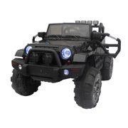 Electric Cars For Boys Black Kids To Ride On Jeep