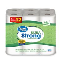 Great Value Paper Towels, Full Sheet, 6 Double Rolls