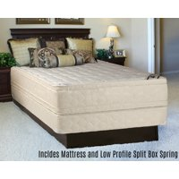 """Continental Sleep, 14-inch Fully Assembled Innerspring Double Sided Mattress and 4"""" Split Box Spring, Twin Size"""