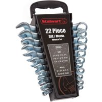 Stalwart 22-Piece Combo SAE and Metric Wrench Set with Carry Case
