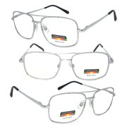 adfb165462 1 Pair Metal Frame Aviator No Line Progressive Trifocal Clear Lens Spring  Hinge Reading Glasses -