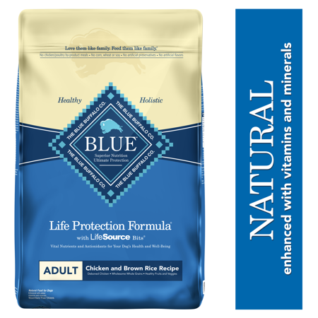 Blue Buffalo Life Protection Formula Natural Adult Dry Dog Food, Chicken and Brown Rice, 30-lb ()