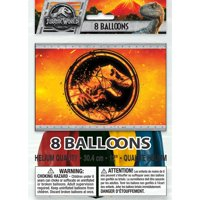 Latex Jurassic World Balloons, 12 in, 8ct
