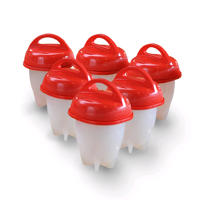 Egglettes egg cooker 6 Pack - AmyHomie Hard Boiled Eggs Without the Shell, AS SEEN ON TV