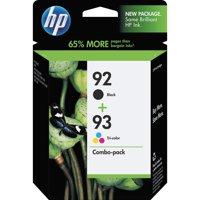 HP 92, (C9513FN) Black / HP 93, Tri-Color 2-pack Original Ink Cartridges