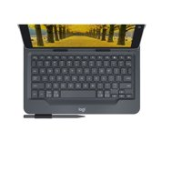 "Logitech Universal Folio with Integrated Bluetooth 3.0 Keyboard for 9-10"" Apple, Android, Windows tablets"