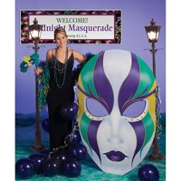 Mardi Gras Mask Cardboard Stand-Up