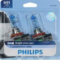 Philips CrystalVision Ultra Headlight H11 Bulb, Pack of 2