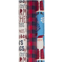 Christmas Wrapping Paper Rolls, 3ct