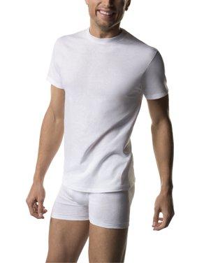 Big Men's FreshIQ ComfortSoft White Crew Neck T-Shirt 5-Pack