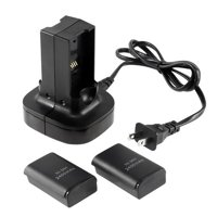 Insten Dual Battery Charger Dock Charging Station with Free 2-pack Rechargeable Battery For Xbox360 Microsoft Xbox 360 Remote Controller Xbox 360 Charger Kit