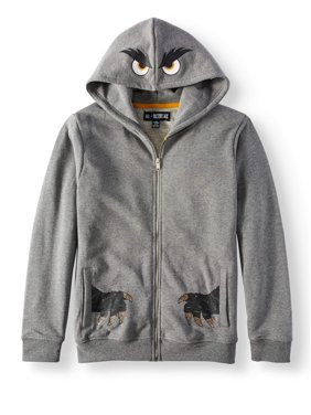 No Retreat Boys' Monster Hoodie With Front and Back Graphics