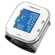 MeasuPro Wrist Digital Blood Pressure Monitor w/ Heart Rate + Hypertension Alert