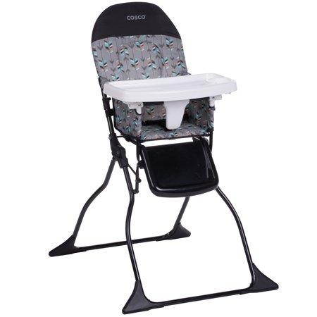 Cosco Simple Fold™ Full Size High Chair, Etched - Mahogany High Chair