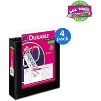 (4 Pack) Avery Durable View Binder with Slant Rings, 11 x 8 1/2, Black, 2 inch Capacity