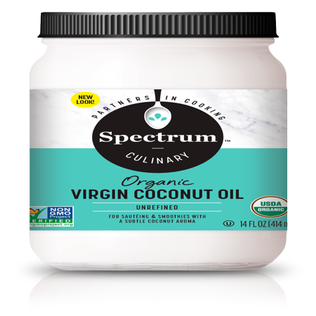 Whole Coconut Oil (Spectrum Culinary Organic Unrefined Virgin Coconut Oil, 14 fl. oz.)