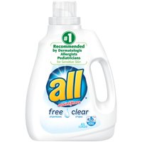 all Liquid Laundry Detergent, Free Clear for Sensitive Skin, 94.5 Fluid Ounces, 63 Loads