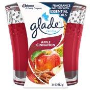 Glade Jar Candle Air Freshener, Apple Cinnamon, 3.4 oz