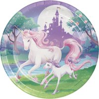 "Party Creations Unicorn Fantasy Dinner Plates, 9"", 8 Ct"