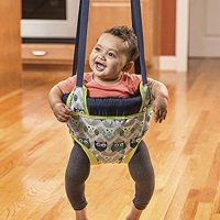 , ( Owl ) Doorway Jumper Stimulates baby Through Jumping Fun And Exercise, Evenflo Doorway Jumper, Owl:Fits standard doorways that are 3 to 6 thick.., By EvenFlo from USA