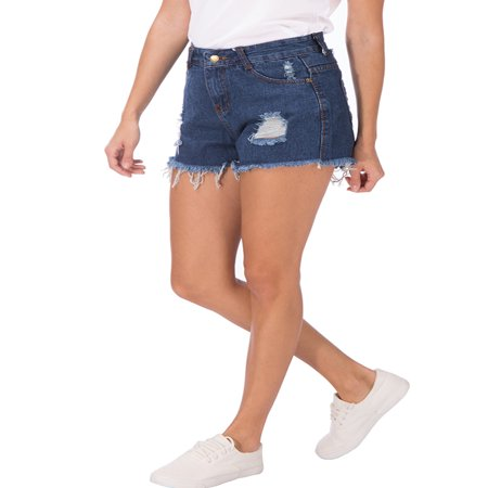 - SAYFUT Women's Summer Jean Shorts Destroyed Ripped Frayed Hem Hight Waist Casual Denim Short Plus Size L-4XL