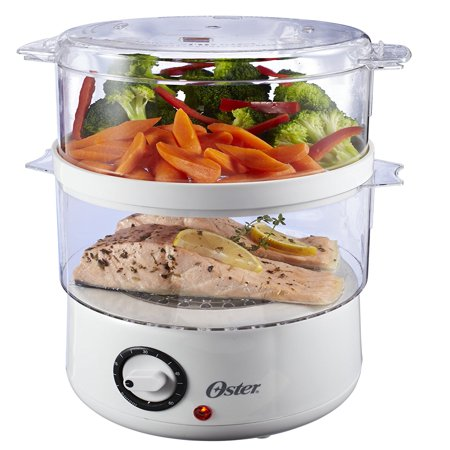 Oster Double-Tiered Food Steamer, White (Pressureless Steamer)