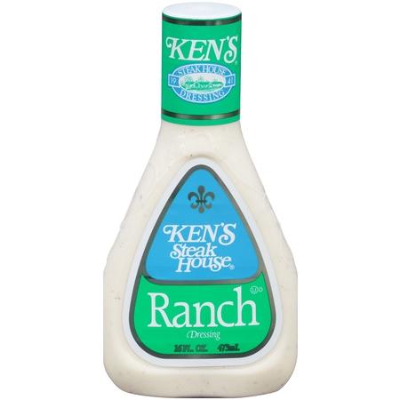 - (3 Pack) Ken's Steakhouse Dressing, Ranch, 16 Fl Oz