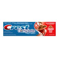 (4 Pack) Crest Complete Multi-Benefit Whitening + Cinnamon Expressions Toothpaste, Cinnamon Rush, 6.0 ounce