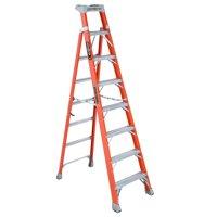 Louisville Ladder FXS1508 8 ft. Fiberglass Cross Step Ladder, Type IA, 300 Lbs Load Capacity
