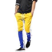 2ff006b405cc Mens Stripe Track Pants Three Tone Color Block Skinny Fit Stretch Casual  Elastic Athletic Training Slim