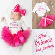 97c965eed84 Newborn Kid Baby Girls Tutu Outfits Clothes Romper Bodysuit Playsuit +Skirts