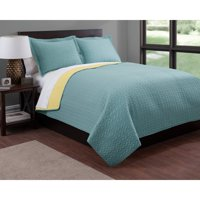 Luxury Fashionable Reversible Solid Color Quilt Set Collection