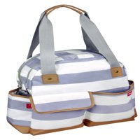 iPack Bowling Bag Diaper Bag, White + Gray
