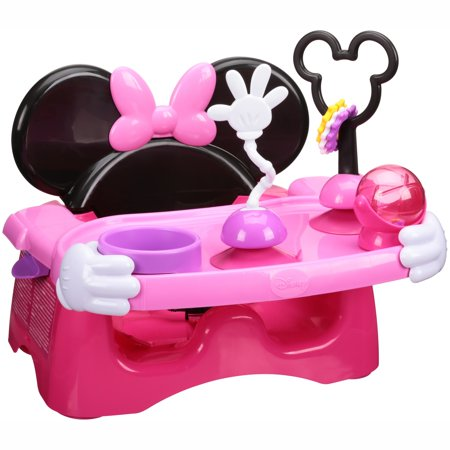Disney Minnie Mouse Booster Seat, Helping Hands Feeding and Activity Seat