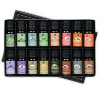 Lagunamoon Essential Oils,Premium Aromatherapy Oils Gift Set of 16- Peppermint Lemon Lavender Tea Tree Eucalyptus Rosemary Patchouli Orange Essential Oil Therapeutic Grade 10ml Each