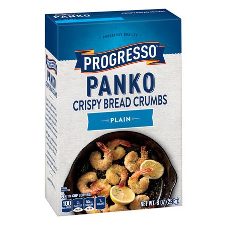 (4 Pack) Progresso Panko Plain Crispy Bread Crumbs, 8 oz (Chicken Parmesan Bread Crumbs)