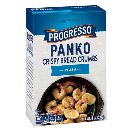 (4 Pack) Progresso Panko Plain Crispy Bread Crumbs, 8 oz Box