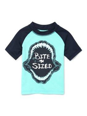 Short Sleeve Graphic Raglan Rashguard (Baby Boys & Toddler Boys)